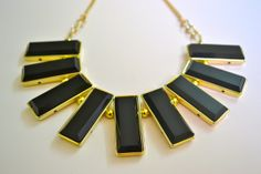 Black & Gold Neckpiece at Tiara By Roshini Shah - Versatile neckpiece ~ day wear/evening wear