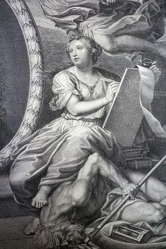 François de Poilly d'après Pierre Mignard  Thèse de Claude François Pellot  Gravure, 2eme moitié du XVIIe siècle Abbeville, musée Boucher-de-Perthes