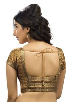 Buy Indian Brocade Copper Sari blouse Choli in USA Saree Blouse Neck Designs, Sari Blouse, Fancy Blouse Designs, Chudidhar Neck Designs, Choli Designs, Stylish Blouse Design, Designer Blouse Patterns, Marie, Absolutely Stunning