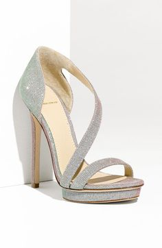 Consort Open Toe Sparkly Strappy Platform Sandal - Brian Atwood