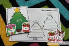 Miss Kindergarten {short e word family sort}