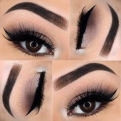 Subtle Smokey Eye w/ Pop of White Color @sheilaslooks   ♡♥♡♥♡♥