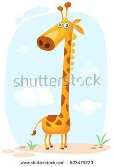 Vector illustration isolated on nature background Zoo Logo, Giraffe Illustration, Cartoon Giraffe, Nature, Poster, Inspiration, Animals, Character, Giraffe Art