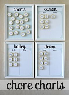Chore Chart for the kiddos.