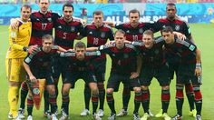 Germany team photo v USA