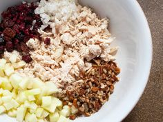 Cranberry Pecan Chicken Salad or on a Sammmich!   The possibilities of adding other items is high...=)
