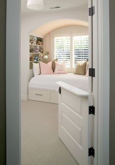 I want to do something like this between my kitchen and playroom. I want it to be a swinging half door though.