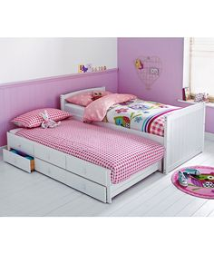 Buy Frankie White Cabin and Trundle Bed with Ashley Mattress at Argos.co.uk - Your Online Shop for Children's beds, Children's beds.