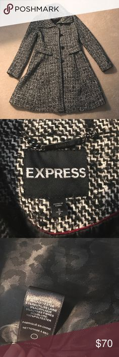 Express princess coat Beautiful princess cut coat! Has only ever been dry cleaned! Perfect condition just too small for me now! Express Jackets & Coats