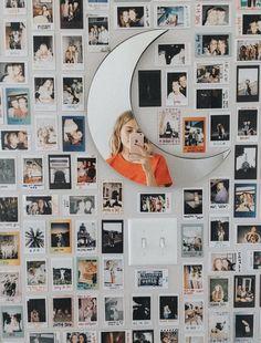 Polaroid wall h o m e y in 2019 room decor, dorm room, diy room. Dream Rooms, Dream Bedroom, Girls Bedroom, Girl Rooms, Teen Rooms, Images Murales, Photowall Ideas, Room Decor For Teen Girls, Bedroom Decor Ideas For Teen Girls