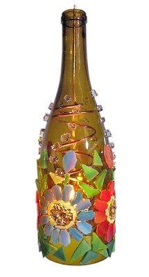 Mosaic Bottle Lantern Workshop with Julie Haan image