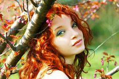 red haired autumn