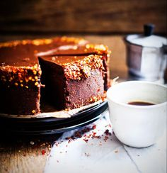 A sinful cake with yummy coffee = perfect evening!