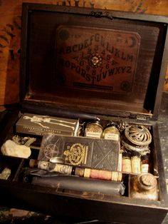 """Yeah, see some odds and ends but it never travels well. """"Wicked Occult travel kit"""" look at all those cool things"""