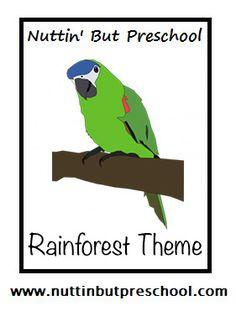 A full preschool theme on the rainforest theme Songs, Fingerplays, Group Time Fun Rainforest... (I've Been Working On The Railroad) I've been working in the rainforest, All among the trees. I've be...