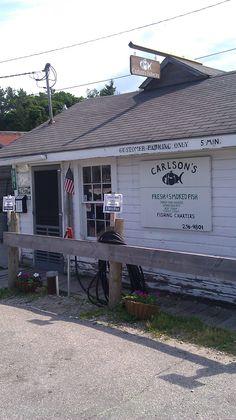 Got Chub? YUM!!! Not to mention the BEST white fish in MICHIGAN!!! #Carlsons - Leland, MI