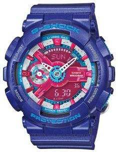 Casio G-Shock S Series - Blue & Pink - World Time - Anti-Magnetic - 200m