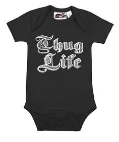 015460602 Thug Life Black One Piece - punk, funny, urban, hip hop, and alternative baby  onesies and toddler clothes by My Baby Rocks