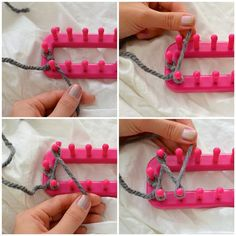 The most amazing tutorial: how to use a knitting loom to make an infinity scarf - DIY crafting - Knitting for beginners,Knitting patterns,Knitting projects,Knitting cowl,Knitting blanket