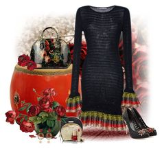"""""""Untitled #534"""" by whiteflower7 ❤ liked on Polyvore featuring Antique Revival, Marco de Vincenzo, Alexander McQueen and Dolce&Gabbana"""