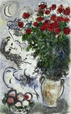 Marc Chagall, Bouquet de roses rouges
