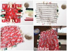 how to make a baby ribbon blanket