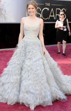 Amy Adams in an Oscar de la Renta dress