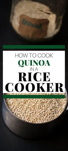 This easy method on How to Cook Quinoa Perfectly is easily my favorite way to cook quinoa that I've ever tried. It is so simple and foolproof. Once you learn to cook quinoa in a rice cooker you may never cook it any other way! Best Quinoa Recipes, Gluten Free Recipes For Breakfast, Healthy Gluten Free Recipes, Gluten Free Dinner, Healthy Dinner Recipes, Vegetarian Recipes, Perfect Quinoa, Healthy Meats, How To Cook Quinoa