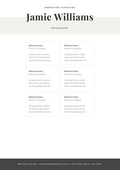 Make your resume, cover letter and references look fantastic and consistent with a modern, creative and elegant resume template pack. Creative Cv Template, One Page Resume Template, Modern Resume Template, Letterhead Template, Cover Letter For Resume, Cover Letter Template, Resume Tips, Resume Examples, Resume References