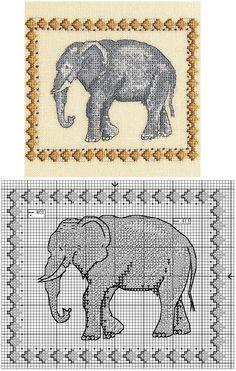 DMC ELEPHANT CROSS STITCH More