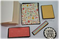 "Lot of 10 ""I MISS YOU"" cards for kids *w/measurements"