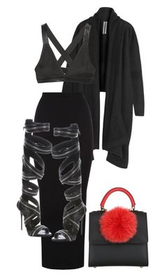 """""""Untitled #537"""" by jazz-mae on Polyvore featuring Rick Owens, T By Alexander Wang, Giuseppe Zanotti and Les Petits Joueurs"""