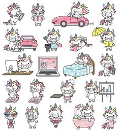 Cute Unicorn in another 21 new icons