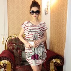 Find More Dresses Information about Fat Large Size Women Dress Women T shirt Loose Summer Dress Short Knee length Casual Loose Print Summer Dresses,High Quality dress s,China dress palace Suppliers, Cheap dresses cupcakes from Angel Growth Diary on Aliexpress.com