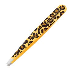 Takes the edge off - Tweezerman in Leopard Print. We love the pop of print hiding in our make-up bag.