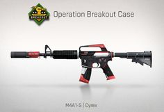 Counter-Strike Global Offensive: Operation Breakout Case: M4A1-S Cyrex