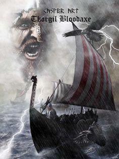 Viking by thecasperart on DeviantArt Viking Life, Viking Warrior, Viking Woman, Odin Norse Mythology, Viking Facts, Arte Viking, Viking Pictures, Viking Books, Viking Character