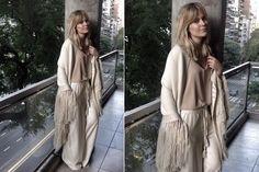 Ohlaleando: mirá lo que se puso Luli Fernández  Jenny Williams visitó el showroom de Justa Petra y eligió un look total white para este invierno. ¡Divina!. Foto: gentileza Prensa