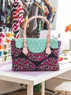 Geek out over this fun patchwork bag. You'll need some mathematic skill to keep all the pieces neat and the seams aligned, but we know you will manage it. Please be aware this download is for the pattern templates only. Buy a copy of Love Sewing issue 28 to find your instructions.