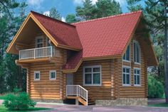 Дом из рубленного бревна: скачать проект дома ручной рубки