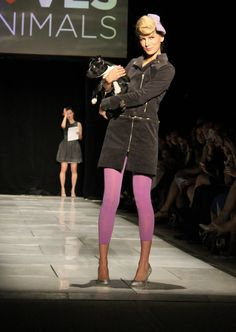 Fashion Loves Animals: Vaute Couture & Love is Mighty (puppy from the Humane Society)