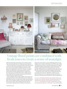 From Tamsyn Morgans. My Country Living Feature - it was a dream come true to have my home featured in Country Living. Images by Robert Sanderson and words/styling by Naomi Jones. Cottage Chic Living Room, Cottage Style, Living Rooms, English Country Style, Country Living Magazine, Shabby Cottage, Shabby Chic, Painted Doors, Sweet Home