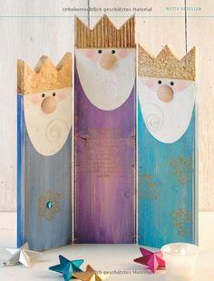 Weihnachtsboten aus Holz kreativ.kompakt : Figuren aus Holzlatten und Holzpfosten: Amazon.de: Pia Pedevilla: Bücher
