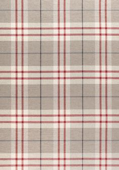 PERCIVAL PLAID, Camel and Red, W80084, Collection Woven 9: Stripes/Plaids from Thibaut