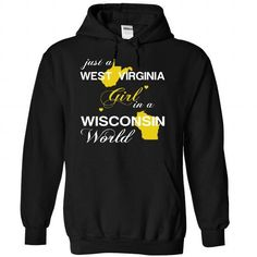 (WVJustVang002) Just A West Virginia Girl In A Wisconsi - #gift packaging #small gift. LIMITED TIME => https://www.sunfrog.com/Valentines/-28WVJustVang002-29-Just-A-West-Virginia-Girl-In-A-Wisconsin-World-Black-Hoodie.html?68278