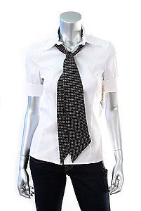 ALICE & OLIVIA RILEY BLOUSE WITH TIE Size XS  Retail: $275  PlushAttire.Com Price: $117.90  57% OFF RETAIL!  #fashiondeals