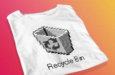 Recycle Bin  Retro Screen Printed T-Shirt by yoinkprintshop