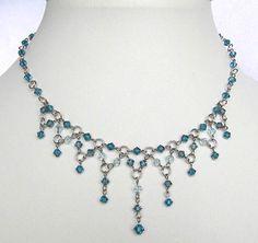 SWAROVSKI NECKLACE BEADING: Swarovski Necklace Beading