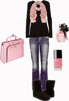 Get Inspired by Fashion: Casual Outfits | Black & Pink