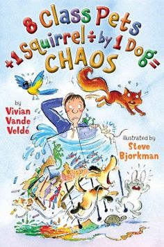 8 class pets + 1 squirrel [divided by] 1 dog = chaos by Vivian Vande Velde Click the cover image to check out or request the children's books kindle.